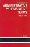 [SPECIALISE] Administrative and Legislative Terms (anglais-hindi) [OCCASION]